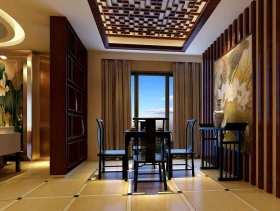 中式设计餐厅吊顶效果图