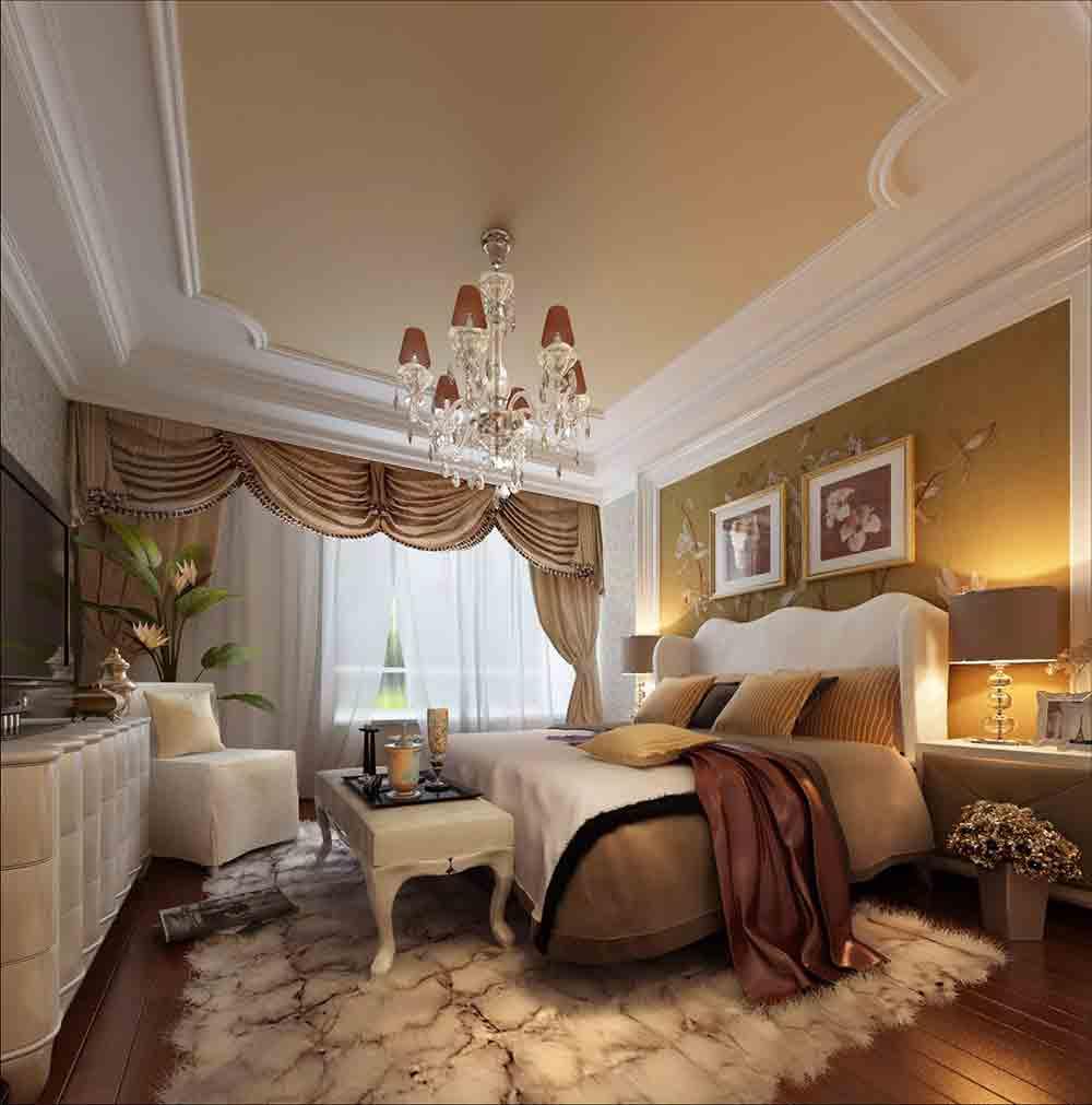 欧式豪华温馨卧室效果图