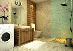 现代清新卫生间装修设计欣赏