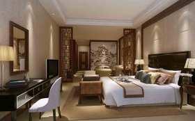 2015中式典雅卧室装修效果图