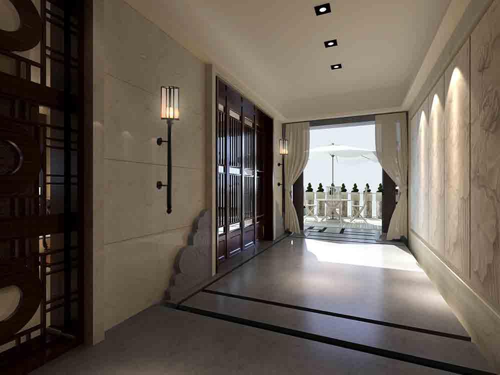 中式现代廊道装潢设计