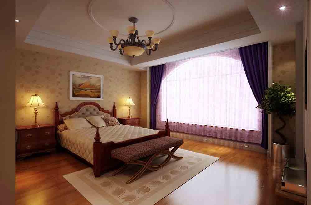 欧式温馨卧室装修效果展示