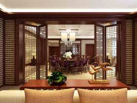 中式风格餐厅隔断装修设计