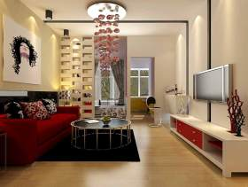 现代时尚客厅装修案例欣赏