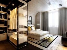 现代质朴卧室设计图展示