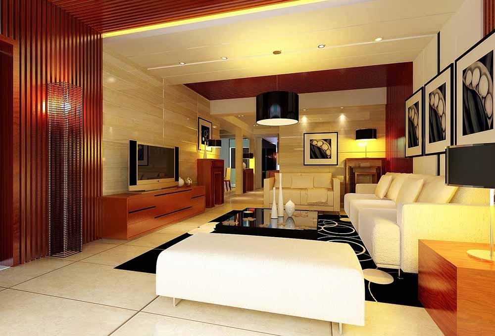 简约舒适客厅装修设计图