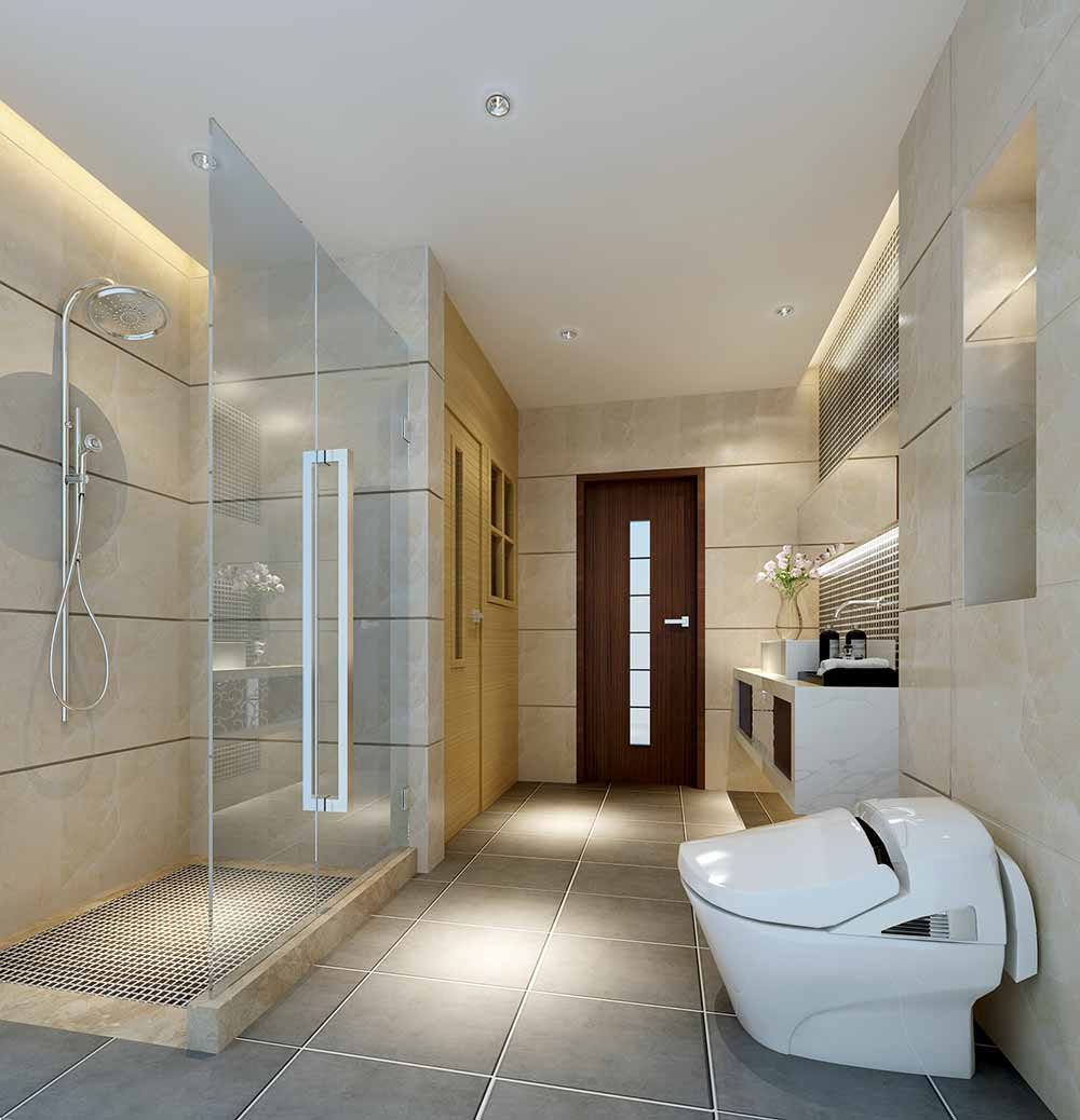 装修美图 现代卫生间装修效果展示  免费户型设计 3家优质装修公司