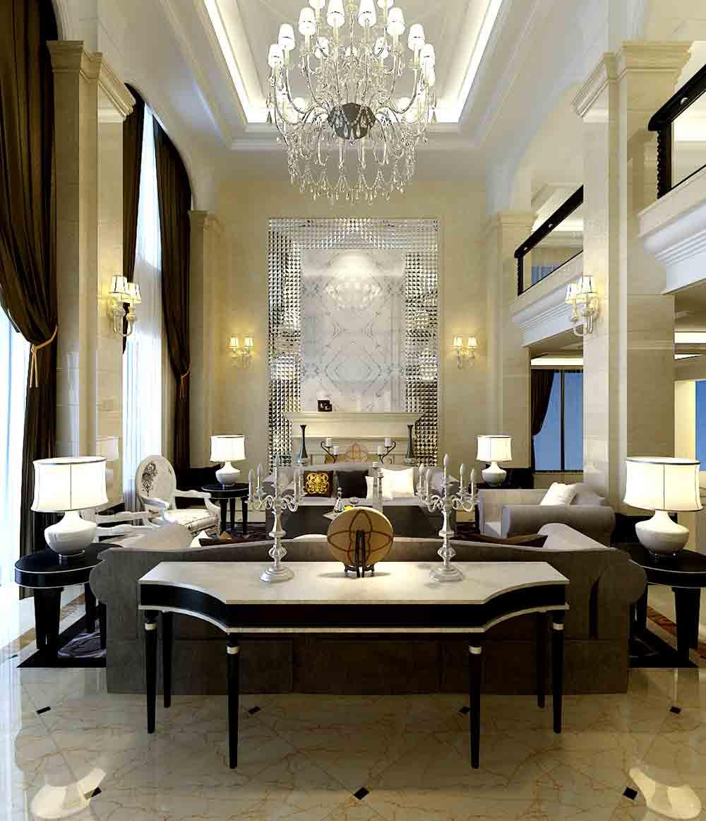 欧式典雅客厅装修案例
