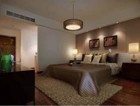黄色温馨简约卧室装潢效果图
