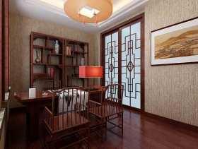 中式古韵书房装修效果图