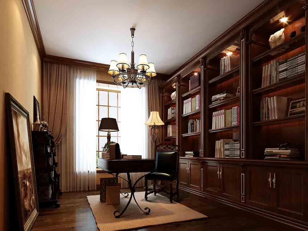 2016欧式风格书房装修效果图片