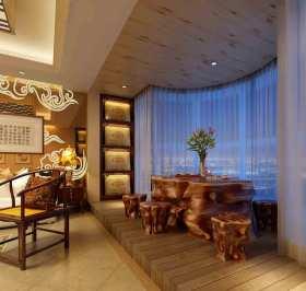 中式元素阳台装修实例欣赏