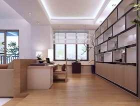 现代中式家庭书房设计效果图