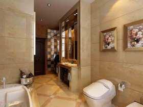 精致现代简欧卫生间装修效果图片