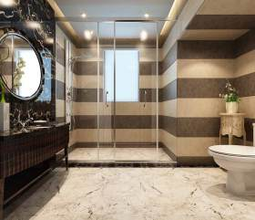 新古典设计卫生间精致装潢