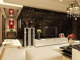时尚新中式电视背景墙大气设计