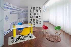 多材质简约创意书房童趣设计