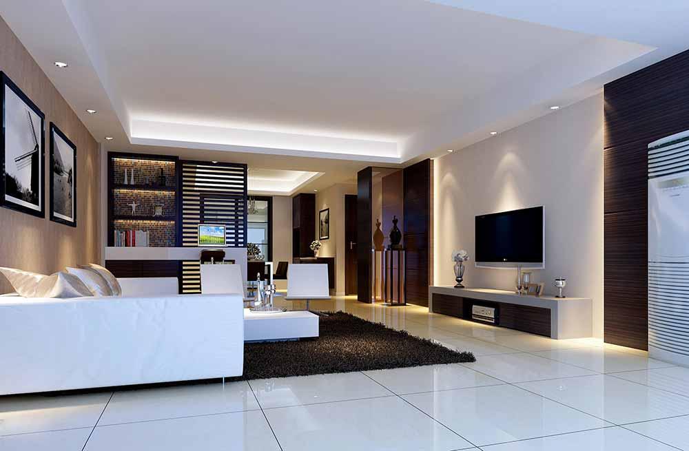 装修美图 2016古典元素新中式客厅装修整体效果图  免费户型设计 3家