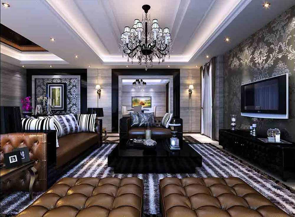 新古典主义大气奢华客厅品质设计-兔狗装修效果图