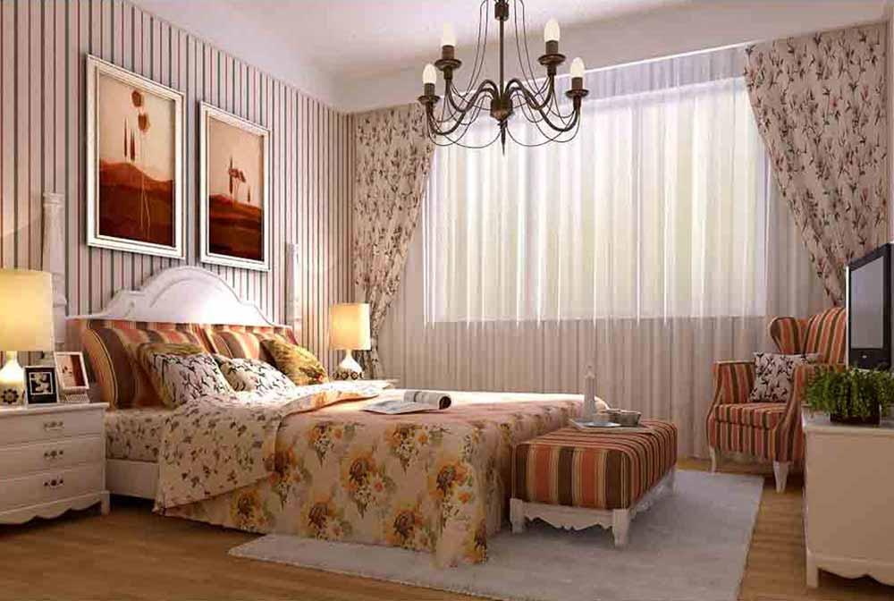 欧式温馨唯美卧室装修效果图