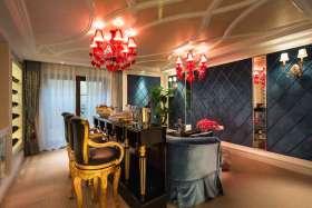 欧式设计奢华精致吧台装潢布置