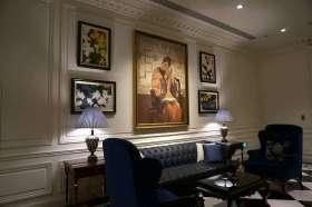 欧式沙发背景墙装潢图片欣赏