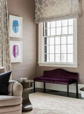 浪漫大方新古典风格窗帘装饰图片