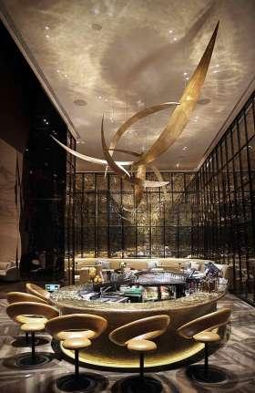 奢华现代风格吧台设计效果欣赏