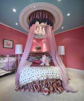 唯美粉色简欧儿童房装修装饰