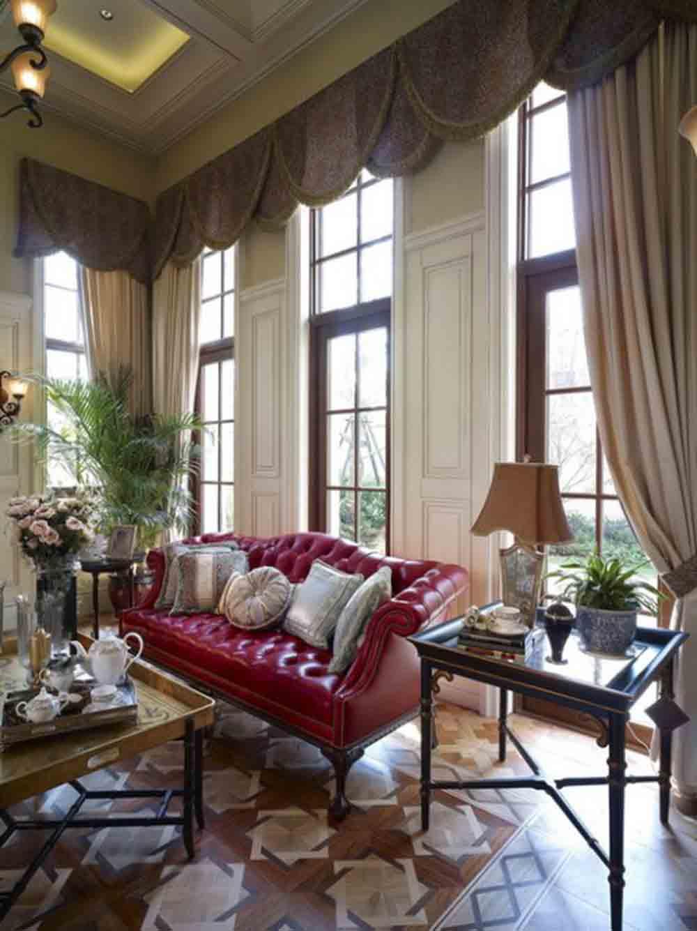 欧式宫廷风格客厅布置
