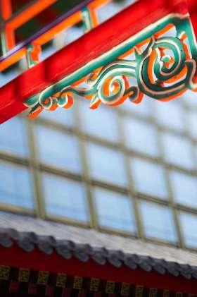 中式雕栏玉砌房屋装饰