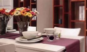 简约紫色餐厅装饰