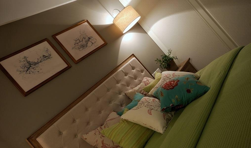 新中式卧室俯视图