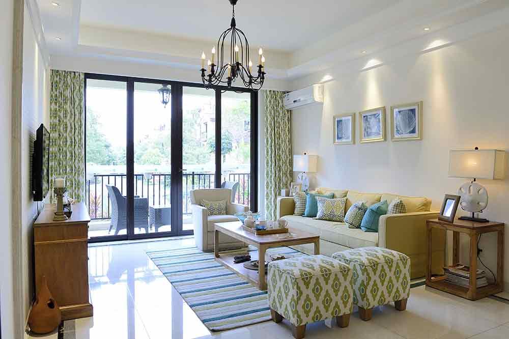 简约绿色清新客厅装饰设计