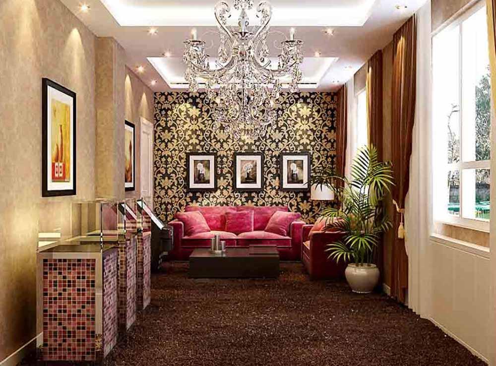 新古典精雕细琢客厅装饰