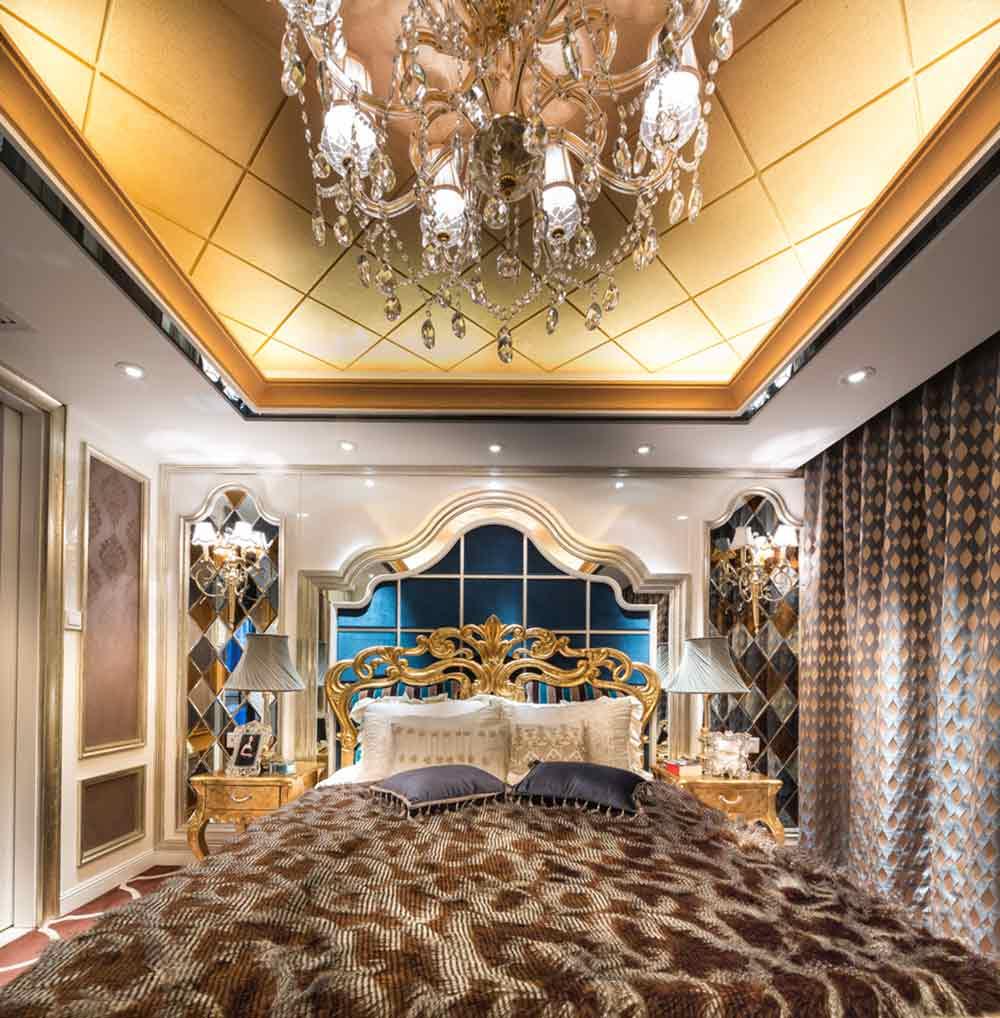欧式富丽堂皇卧室装修布置