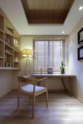 简约黄色淡雅书房装修设计