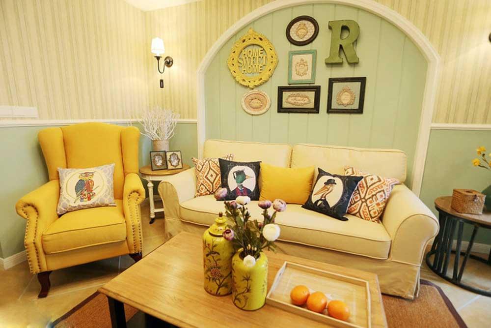 美式可爱舒适客厅装修装饰