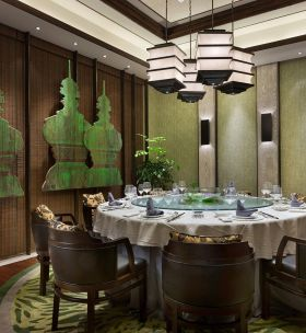 中式典雅餐厅装修效果图