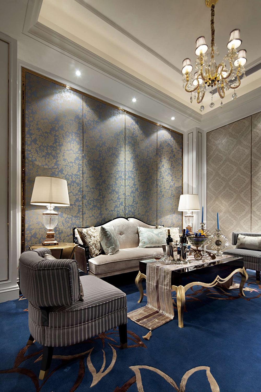低调奢华新古典主义客厅装饰效果图片-兔狗装修效果图