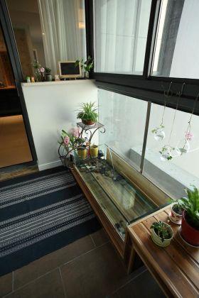 新中式风格家装别致阳台装饰设计