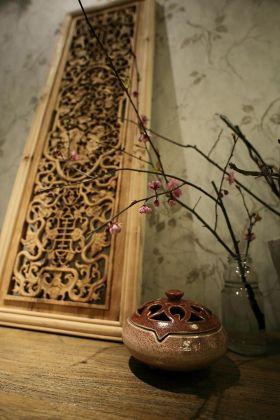 中式风格背景墙布置装潢