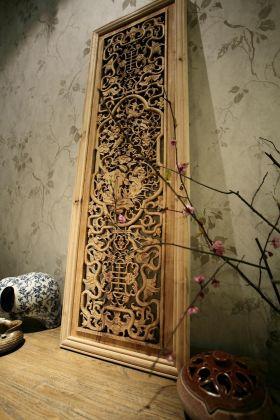 中式风格精致背景墙设计效果