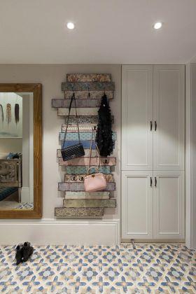 清爽粉嫩美式背景墙装饰设计