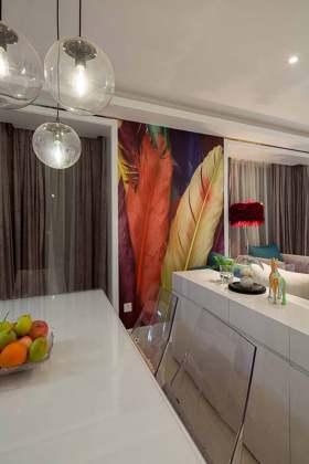 绚丽现代背景墙装潢布置图片