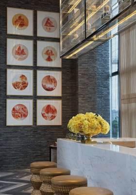 2016新中式混搭设计吧台装潢