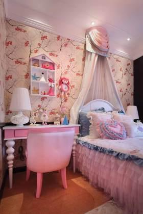 2016甜美粉嫩欧式儿童房装潢