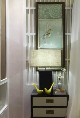 清爽新中式背景墙装修效果