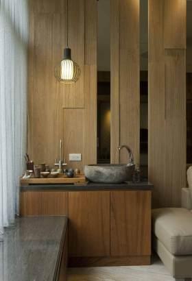 简约古朴中式风格多功能收纳柜设计欣赏