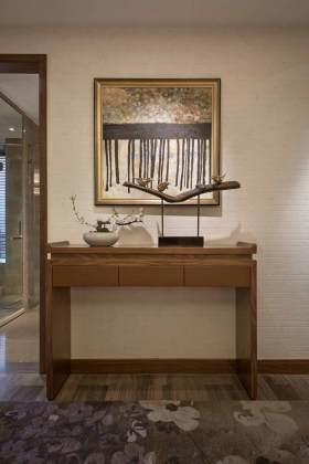20126简约素雅中式收纳柜装饰布置